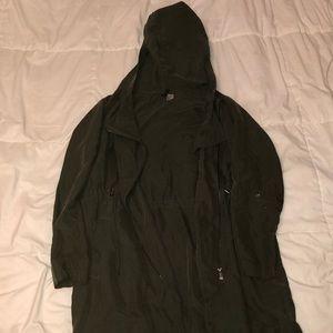 Dark green trench coat